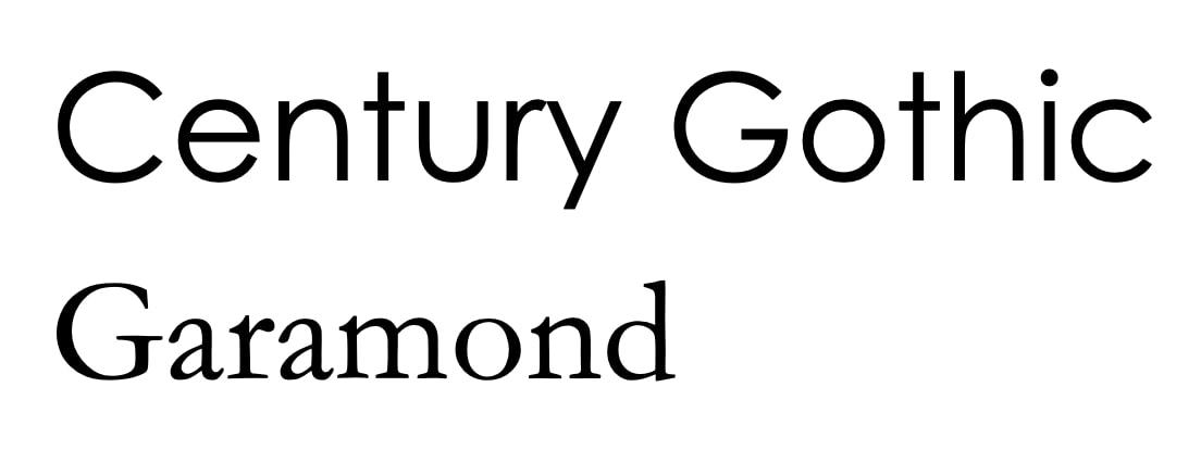 sparsame Schriftarten