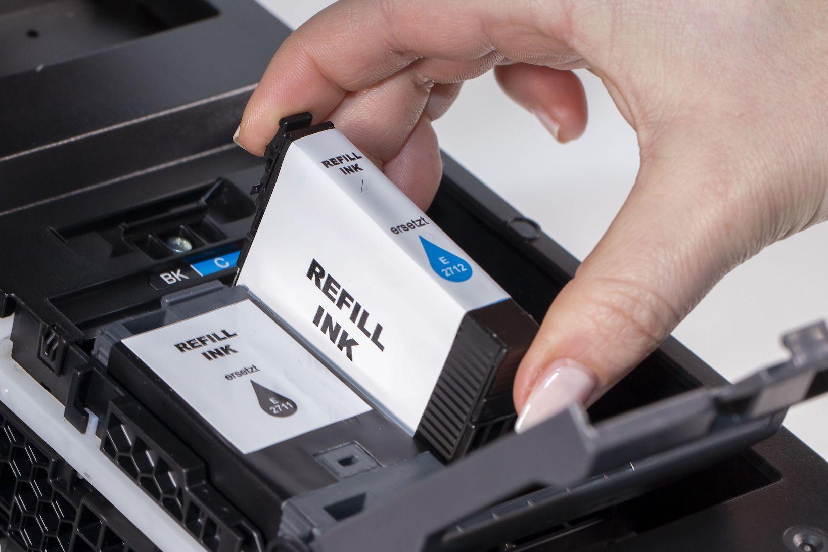 Tintenpatronen in einem Tintenstrahldrucker