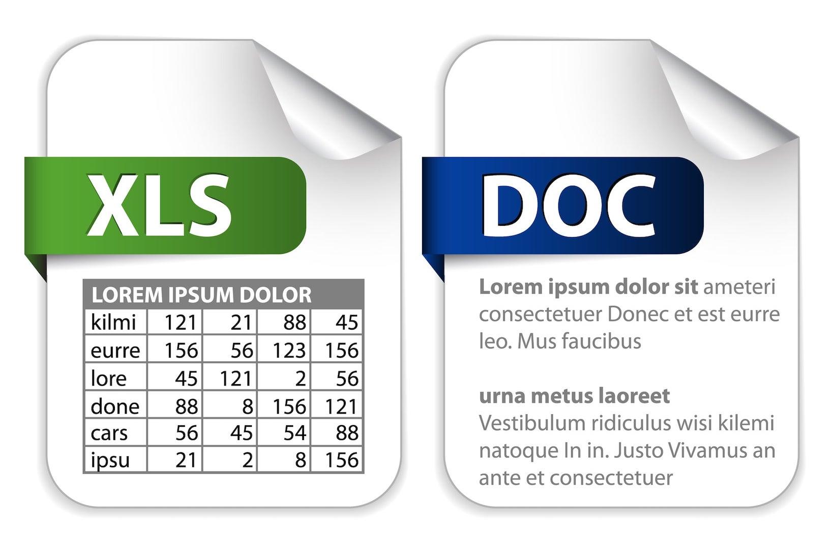 Icons für Office-Dokumente