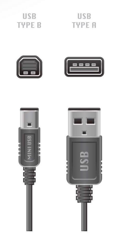 USB-A auf USB-B Druckerkabel