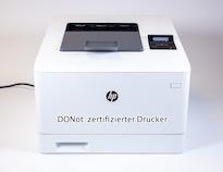 DONot-zertifizierter Drucker